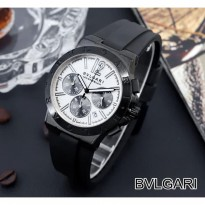 BVLGARI RUBBER CHRONO ACTIVE BLACK COVER WHITE
