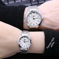 Jam Tangan Seiko Five Couple Rantai Full Silver