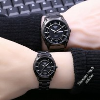 Jam Tangan Seiko Five Couple Rantai Full Black