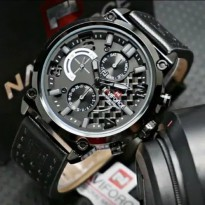 JAM PRIA NAVIFORCE NF9068 KULIT CHRONO ACTIVE ORI ANTI AIR BLACK GREY