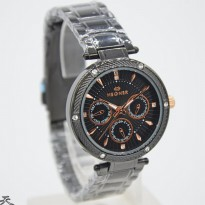 HEGNER 1636 CHRONO ACTIVE ORI ANTI AIR BLACK JARUM ROSEGOLD