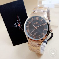 HEGNER 1601 TANGGAL BESAR ORIGINAL ANTI AIR ROSEGOLD COVER BLACK