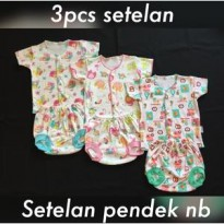 3pcs Setelan Kutung Newborn Little Q Queen (celana pop + baju kutung)