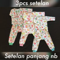 3pcs Setelan Panjang Newborn Little Q Queen (celana pop + baju kutung)