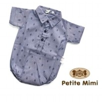 Peitite Mimi Baby Mini Summer Romper Kemeja - Motif : Air Balloon