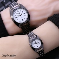 SEIKO COUPLE RANTAI BLACK COVER WHITE