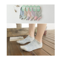KK010 Kaos Kaki Pendek Happy Tree Wanita Low Socks