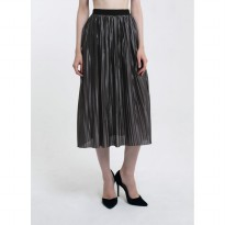 Rok Midi Branded Premium - Saturday Gray Anya Pleats Skirt