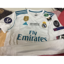 JERSEY BAJU BOLA REAL MADRID HOME 17/18 FINAL UEFA SUPER CUP GRADE ORI