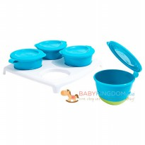 [Limited] Tommee Tippee Explora Weaning 4 Pop Up Freezer Pots & Tray - Blue