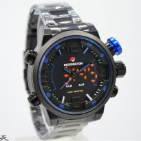 Jam Tangan Pria Reddington Original R651 Rantai Black Blue