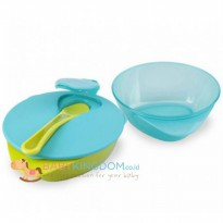 [Dijamin] Tommee Tippee Explora Easy Scoop Feeding Bowls - Blue Green