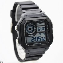 Jam Tangan Pria / Cowok Reddington Original R885 Rubber Black White