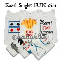 KAZEL SINGLET MOTIF FUN 6IN1 - SIZE XL