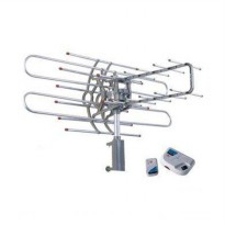 Sanex Antena TV Rotating with Booster+Remote+Kabel WA-850TG