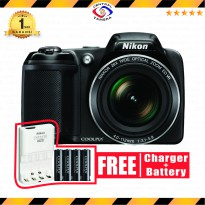 Nikon Coolpix L340 Kamera Digital - Hitam FREE Charger Battery