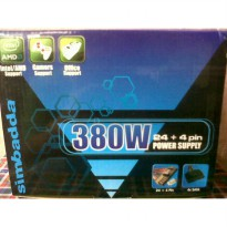Power Supply Simbadda 380 Watt Pure Garansi 1 Tahun