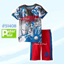 CA51410 - Setelan Pipo Carter Tee Big Hero + Blue Pants