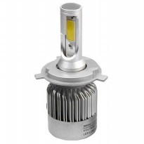 (Star Product) Lampu Led H4 Mobil/Motor COB led 4000 Lumen Fokus Hi-Lo Beam 2pcs