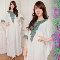 Kaftan Alindra Gamis bordir maxy dress jumbo