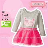 CA51602A - Dress Pipo Carter Dress Tutu Meow Cat Pink