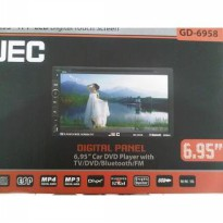 TV MOBIL DOUBLE DIN JEC GD-6958 LAYAR LEBAR 6,95 Inch ( Digital Panel  Plug n Play FOR TOYOTA)