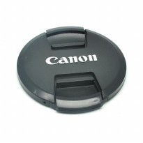 Cover Tutup Lensa Kamera Canon 77mm - Black