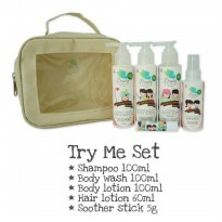 (Gold Product) Beauty Barn Kids Try Me Set - Paket Beauty Barn isi 5 / Baby Gift Set