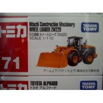 Takara Tomy Hitachi Construction machinery Wheel Loader ZW220 Original