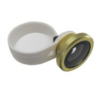 Lesung Universal Circle Clip Fisheye Lens 180 Degree for Smartphone - LX-C001 (Original) - Golden