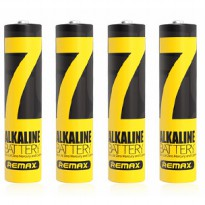 Remax Batu Baterai Alkaline AAA Battery - 4pcs - Black Gold