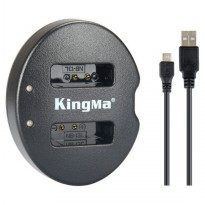 Kingma Charger Baterai 2 Slot Canon PowerShot G7X - NB-13L - Black