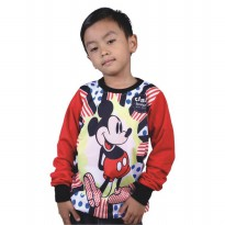 Catenzo Junior Sweater Anak - Red Mickey Mouse CMNx278