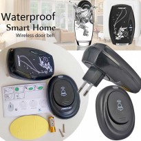 Bel Pintu Rumah Knob Outdoor Kedap Air Waterproof Smart Home Wireless Alarm Doorbell 36 Musics Tone
