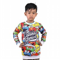 Catenzo Junior Sweater Anak - Putih Komb CMNx280