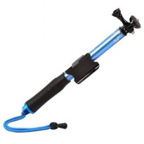 Monopod with Wireless Remote Control Slot 93cm for GoPro / Xiaomi Yi / Xiaomi Yi 2 4K - Blue