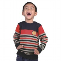 Catenzo Junior Sweater Anak - Merah Komb CZMx156