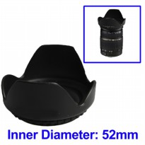 Lens Hood for Cameras 52mm (Screw Mount) - Black