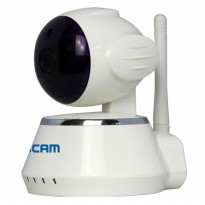 ESCAM Secure Dog QF510 Wireless IP Camera CCTV 1/4 Inch CMOS 720P - White