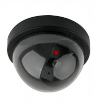 Realistic Looking Fake Dummy Motion Detection System Security Camera - Black