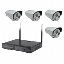 Wireless NVR Kit 130W HD 4Ch with 4 CCTV 960P - 160513 - Black