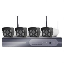 Wireless NVR Kit 130W HD 4Ch with 4 CCTV 960P - 161101 - Black