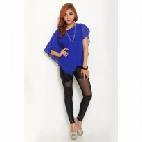 Yoen Blouse Chiffon Wing - Blue