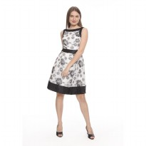 Julianne Midi Dress - Monochrome