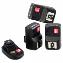 Wansen Remot Wireless Flash Trigger dengan Transmitter & Receiver - Black