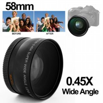 Super Wide Angle Lens with Macro 58mm for Canon - Black