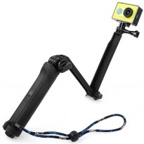 TMC 3 Way Foldable Extension Tripod for Xiaomi Yi / GoPro / Xiaomi Yi 2 4K - HR289 - Black