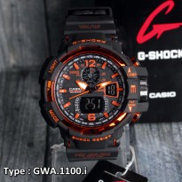 Casio G Shock GWA1100.K Strap Merah/Red Grade Original