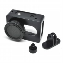 Aluminium Protective Case for Xiaomi Yi with CNC Screw - Black