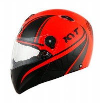 Helm kyt X rocket hitam orange stabillo